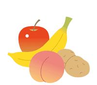 감자, 사과, 바나나, 복숭아(수용성 식물섬유)